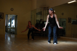 beBE in rehearsals with Amanda Crawford (2013).  Photo courtesy of Ruben Esqueda.